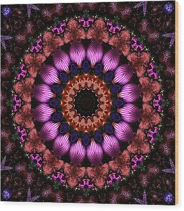 Klassy Kaleidoscope Wood Print by Lyle Hatch