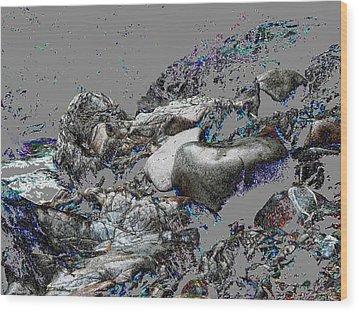 Kleanza Rocks II Wood Print by Anne Havard