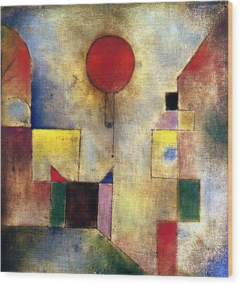Klee: Red Balloon, 1922 Wood Print by Granger