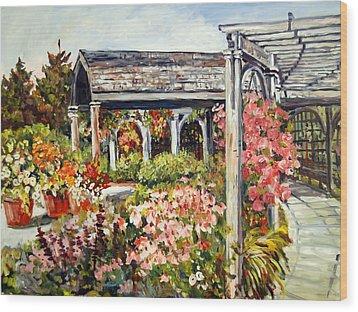 Klehm Arboretum I Wood Print by Alexandra Maria Ethlyn Cheshire