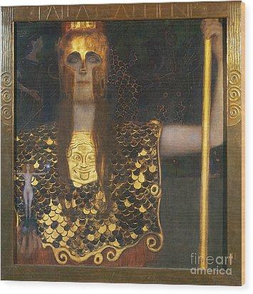 Klimt - Pallas Athena 1898 Wood Print by Granger