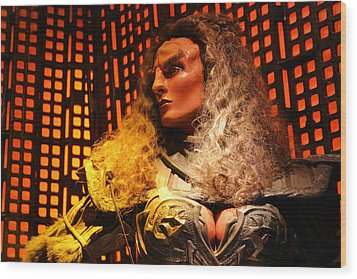 Wood Print featuring the photograph Klingon by Kristin Elmquist