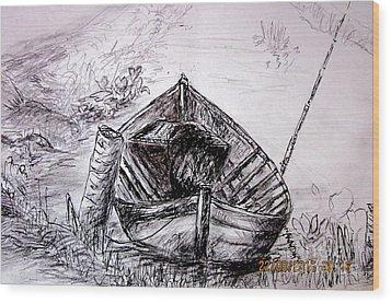 Klotok  Wood Print by Jason Sentuf