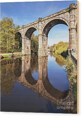 Wood Print featuring the photograph Knaresborough Viaduct, North Yorkshire by Colin and Linda McKie