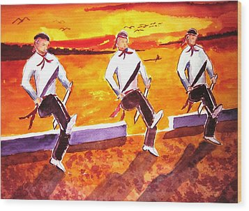 Knife Dancers Wood Print by Buster Dight