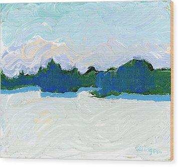 Knife Lake Wood Print by Rodger Ellingson