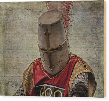 Wood Print featuring the photograph Knight In Armor by Mary Hone
