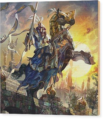 Knight Of New Benalia Wood Print by Ryan Barger