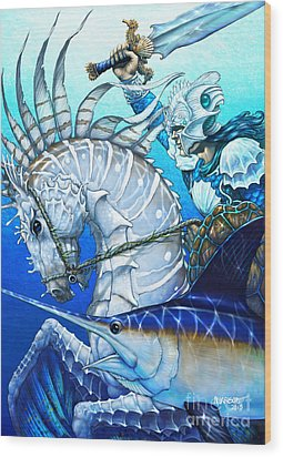 Wood Print featuring the digital art Knight Of Swords by Stanley Morrison