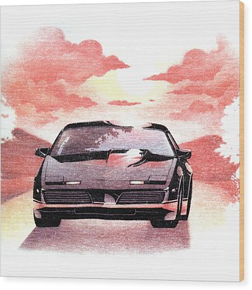 Wood Print featuring the digital art Knight Rider by Gina Dsgn