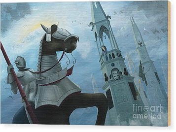 Knight Time Wood Print by Denise M Cassano