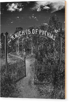 Knights Of Pythias Gate Wood Print