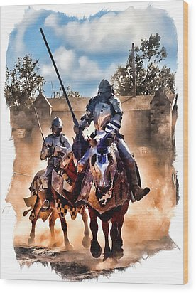 Knights Of Yore Wood Print by Tom Schmidt