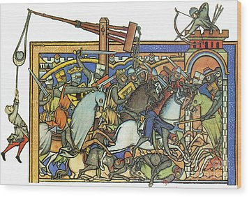 Knights Templar 13th Century Wood Print by Photo Researchers