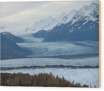 Wood Print featuring the photograph Knik Glacier by Adam Owen