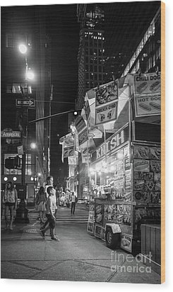 Knish, New York City  -17831-17832-bw Wood Print