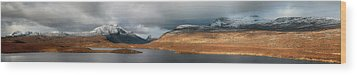 Wood Print featuring the photograph Knockan Crag Mountain View by Grant Glendinning