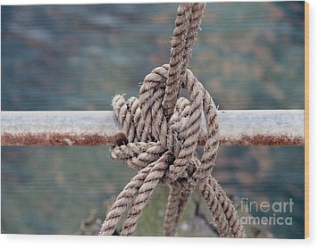 Wood Print featuring the photograph Knot Of My Warf by Stephen Mitchell