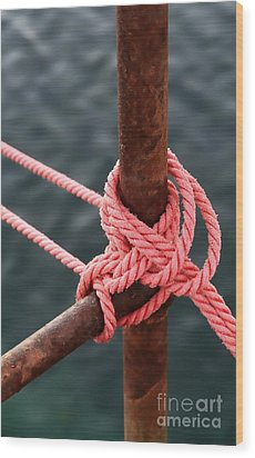 Wood Print featuring the photograph Knot On My Warf IIi by Stephen Mitchell