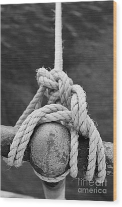 Wood Print featuring the photograph Knot On My Warf Iv by Stephen Mitchell