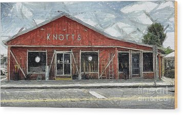Knott's Hardware Wood Print by Murphy Elliott