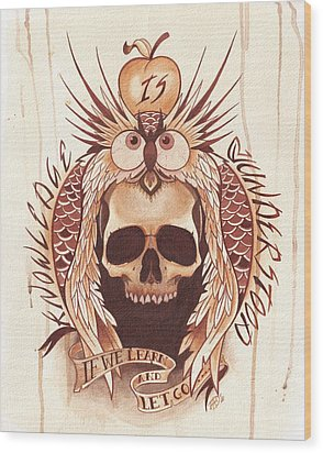 Knowledge Wood Print by Deadcharming Art