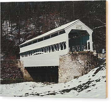Knox Covered Bridge Historical Place Wood Print