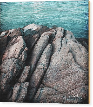 Wood Print featuring the photograph Ko Samet Rocks by Joseph Westrupp