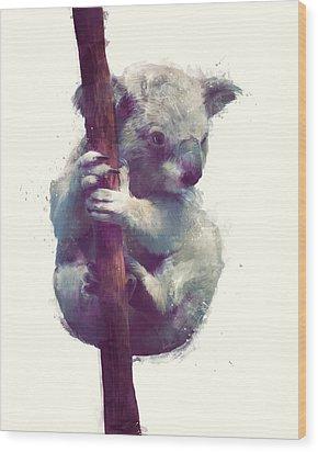Koala Wood Print by Amy Hamilton