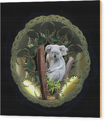 Koala Wood Print by Julie Grace
