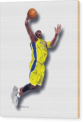 Kobe Bryant 8 Wood Print by Walter Oliver Neal