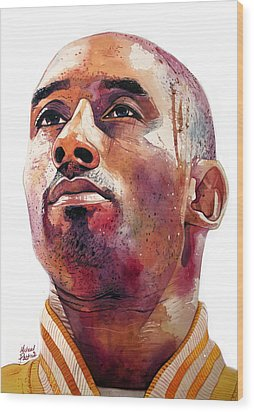 Kobe Bryant Lakers Final Game Wood Print by Michael Pattison
