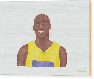 Kobe Bryant Wood Print by Toni Jaso