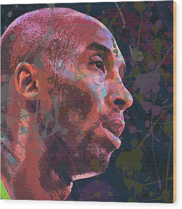 Wood Print featuring the painting Kobe by Richard Day