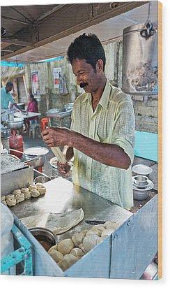 Kochi Stall Wood Print by Marion Galt