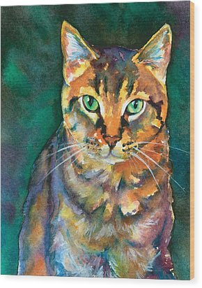 Wood Print featuring the painting Kodi by Christy Freeman