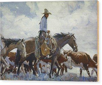 Koerner: Cowboy, 1920 Wood Print by Granger