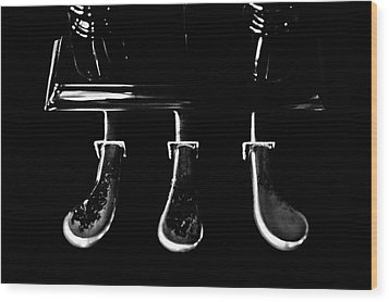 Kohler And Cambell Pedals Black And White Wood Print by Sam Hymas