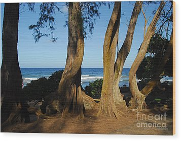 Koki Beach Wood Print