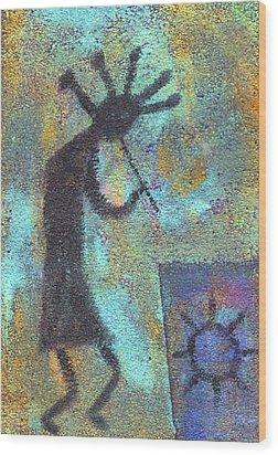 Kokopeli Wood Print