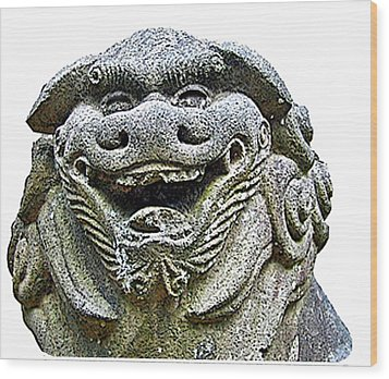 Komainu04 Wood Print