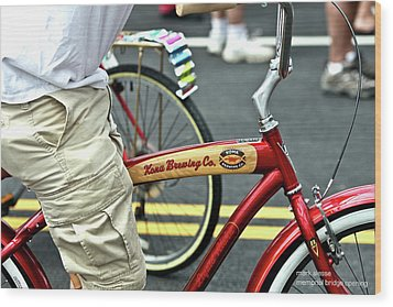 Kona Beer Bike Wood Print