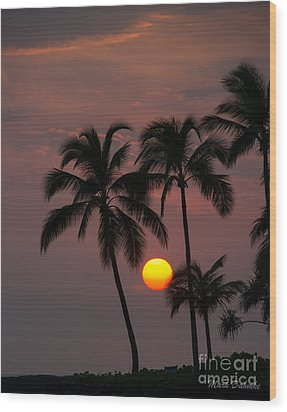 Kona Sunset #2 Wood Print