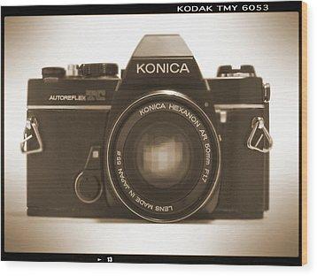 Konica Tc 35mm Camera Wood Print by Mike McGlothlen