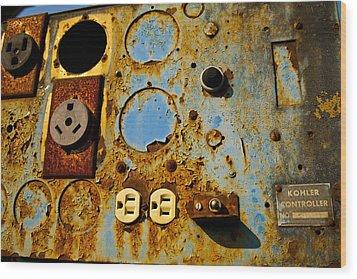 Kontroller Rust And Metal Series Wood Print by Mark Weaver