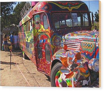 Kool Aid Acid Test Bus Wood Print by Kym Backland