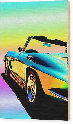 Kool Corvette Wood Print by Lynn Andrews
