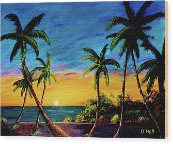 Ko'olina Sunset On The West Side Of Oahu Hawaii #299 Wood Print by Donald k Hall