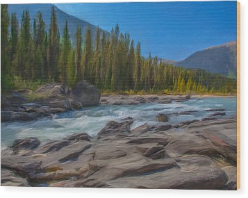 Kootenay River Wood Print