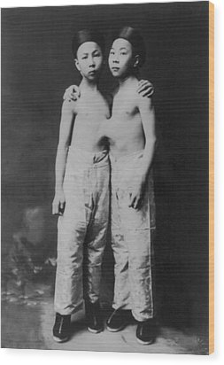 Korean Siamese Twins Standing Wood Print by Everett